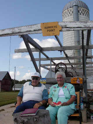 Donna and Merrill Sterler on Hawkeye Point