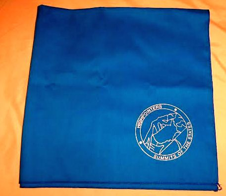 Bandana – Blue with Club logo in silver