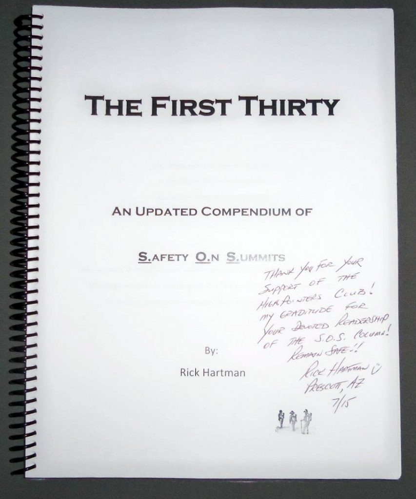 Rick Hartman's First Thirty S.O.S. Compendium from Apex to Zenith